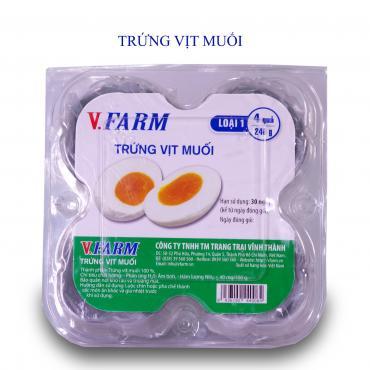 Trứng Vịt Muối VFARM (Hộp 4)